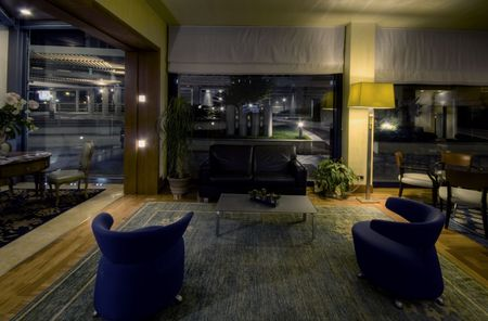 Classical Interior design of an hotel lobby photo