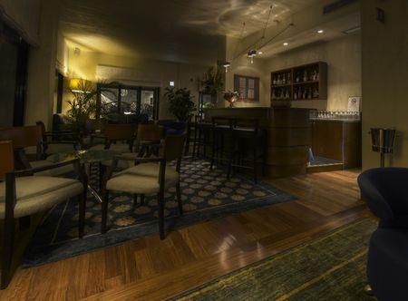 Classical Interior design of an hotel lobby