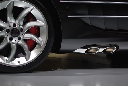 Chromatic detail of a supercar Stock Photo