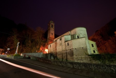 Church in the Apuan Alps,Italy photo