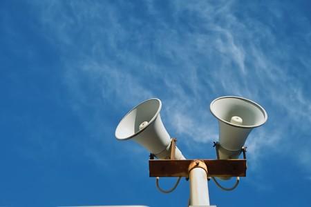 Haut-parleur sur le ciel