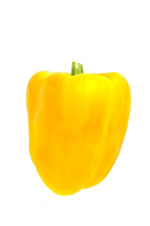 isolated yellow ball pepper on white background Stock Photo - 4652850