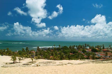 Unspoiled beautiful dunes of genipabu, Natal. brazil
