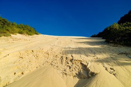 Morro de Careca Sand Dune from Ponte Negra Beach Natal Brazil photo