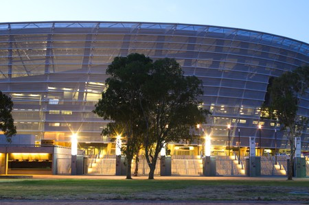 nightview: CAPE TOWN - APRIL 2010:  Nightview of Green point stadium in cape town is ready to host the next soccer world cup, 01 april 2010 capet town, SouthAfrica