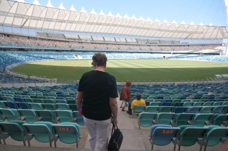 DURBAN - APRIL  5: some tourists enter inside the Moses Mabhida stadium of Durban, april 5, 2010 Durban, South Africa