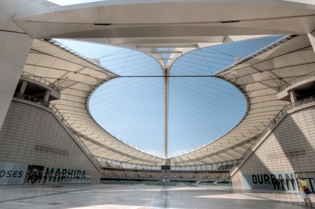 DURBAN - APRIL  5: the Moses Mabhida stadium of Durban, april 5, 2010 Durban, South Africa Stock Photo - 7137837