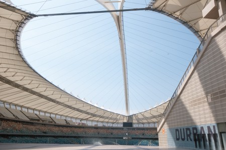 stadium  durban: DURBAN - APRIL  5: the Moses Mabhida stadium of Durban, april 5, 2010 Durban, South Africa