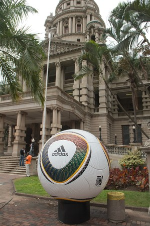 DURBAN - 05 MAY 2010: promotion of the next coming soccer world cup in the city of Durban, may 05 2010 in durban, South Africa Stock Photo - 7137847
