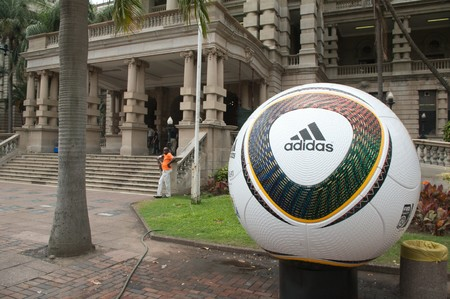 DURBAN - 05 MAY 2010: promotion of the next coming soccer world cup in the city of Durban, may 05 2010 in durban, South Africa Stock Photo - 7137849