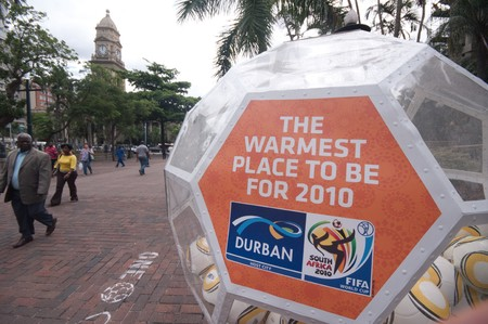 mabhida: DURBAN - 05 MAY 2010: promotion of the next coming soccer world cup in the city of Durban, may 05 2010 in durban, South Africa