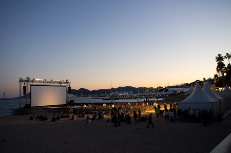 CANNES, FRANCE - MAY 15:  cinema in the beach installment during the 64th Annual Cannes Film Festival on May 15, 2011 in Cannes, France.