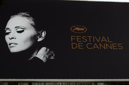 CANNES, FRANCE - MAY 13: The official poster of Cannes featuring Faye Dunaway at the 64th Cannes Film Festival on May 11, 2011 in Cannes, France.