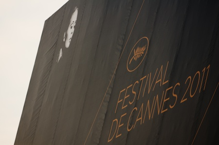 CANNES, FRANCE - MAY 13: The official poster of Cannes featuring Faye Dunaway prior to the 64th Cannes Film Festival on May 11, 2011 in Cannes, France.