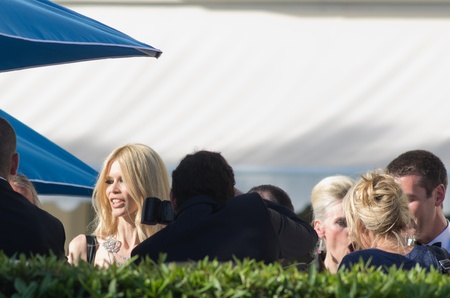 martinez: CANNES,FRANCE-MAY 20: german top model claudia schiffer is spotted at   hotel martinez in cannes during the film festival on may 20th in Cannes, France