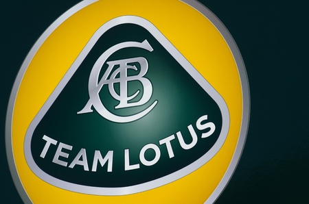 grand prix: MONACO, FRANCE-MAY 29: formula one Lotus  team symbol is photographed at the  the grand prix of monaco on 29th, 2011 of may in Monaco, france