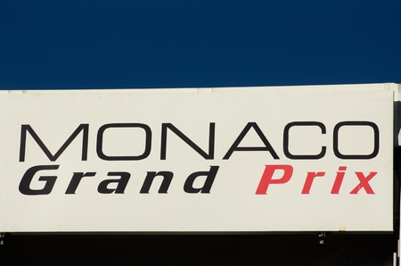 grand prix: MONACO, FRANCE-MAY 29: formula one symbol is photographed at the  the grand prix of monaco on 29th, 2011 of may in Monaco, france