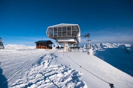 Ski resort Courchevel, lift station Les marmottes, Trois Vall�es, Haute-Savoie France Stock Photo - 13226171