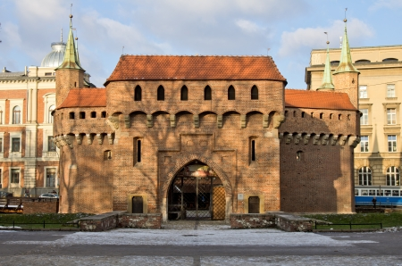 cracovia: Barbican Defensive Bastion built in 1498 Old Town Krakow Poland
