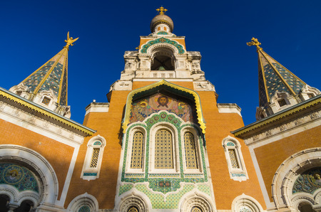 dazur: Russian Orthodox Cathedral, Nice, Cote dAzur, Provence, France Stock Photo
