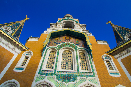 cote d'azur: Russian Orthodox Cathedral, Nice, Cote dAzur, Provence, France Stock Photo
