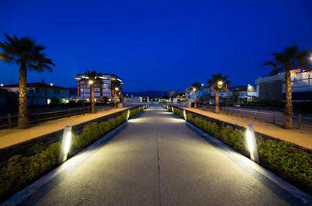 lido: Modern steel pier in Lido Camaiore, Versilia, Tuscany, Italy, Europe