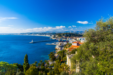 traditionally french: France, Nice, Promenade des Anglais, elevated view