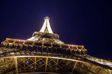most: PARIS,FRANCE-NOVEMBER 16:  The Eiffel Tower at night  the 16 november 2009, in Paris,France. Eiffel Tower is tallest structure in Paris and most visited monument in the world. Editorial