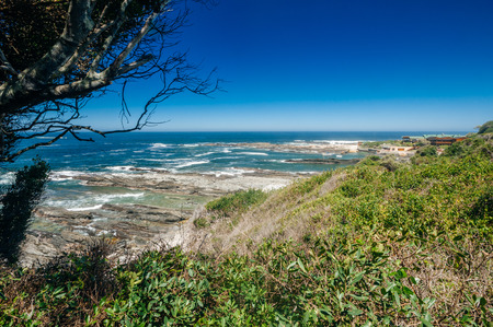 Tsitsikamma National Park is on South Africas Garden Route and has a spectacular coastline that begs to be explored. Stock Photo