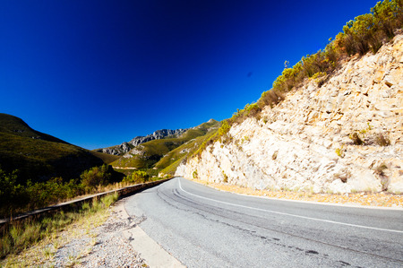 Road stretchin to the Tradouw Pass near Barrydale Western Cape South Africa