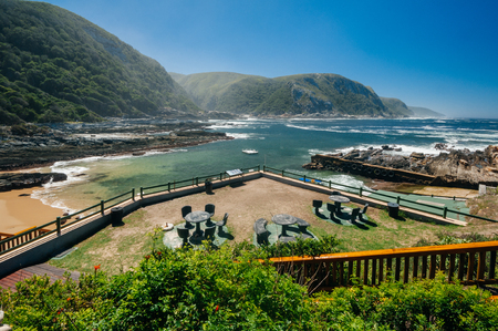daniels: Tsitsikamma National Park is on South Africas Garden Route and has a spectacular coastline that begs to be explored. Stock Photo