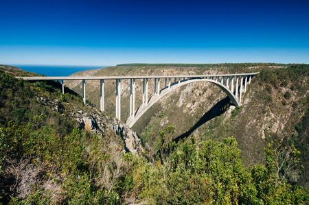 Bloukrans bridge was completed in1984, and is now the worlds highest commercially operated bungee jump, a 216 meter leap into the ravine.