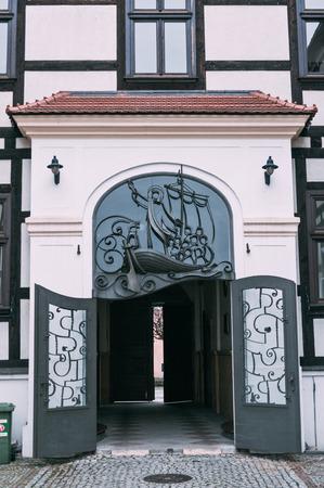 Ancient gate in Ostrow Tumski, Wroclaw Lower Silesia, Poland