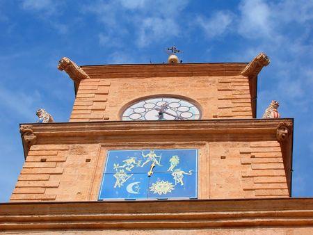 clock tower in the city of Salon-de-Provence Stock Photo