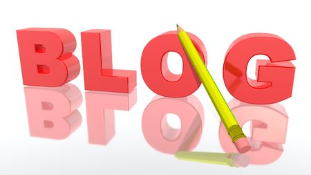a 3d picture to illustrate Blog activity