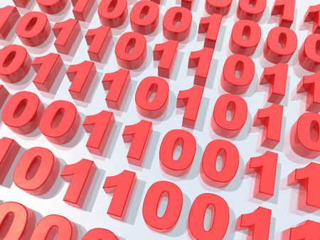 Binary code Stock Photo