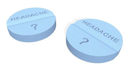 impotence: headache pills Stock Photo
