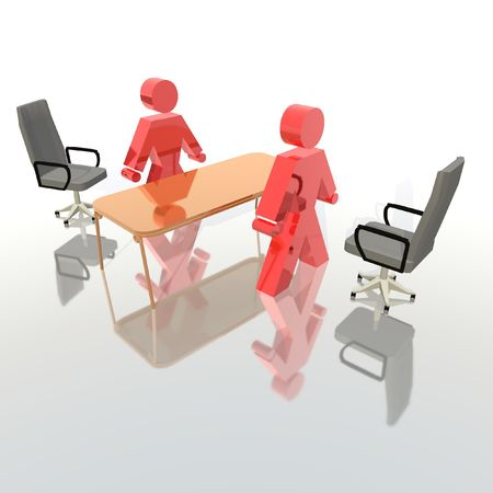 gaining: recruiting interview Stock Photo
