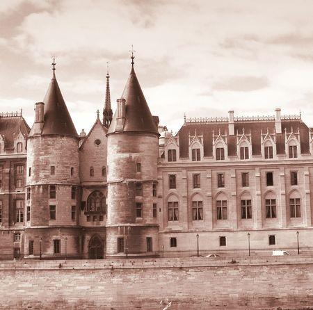 palate: Paris - Palate of the Conciergerie Stock Photo
