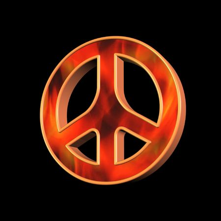 disarmament: Peace and love Stock Photo