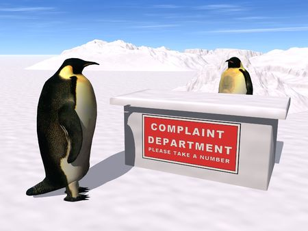 dysfunction: Complaint department Stock Photo