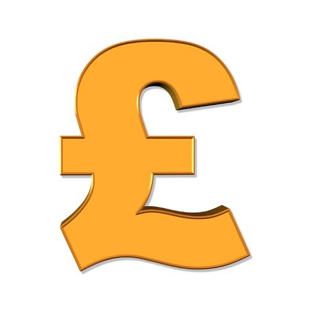 foreign exchange: English pound symbol