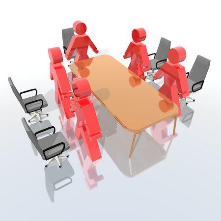 comit� d entreprise: r�union d'affaires Banque d'images