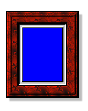 framer: Painting frame for picture rate 4:3 Stock Photo
