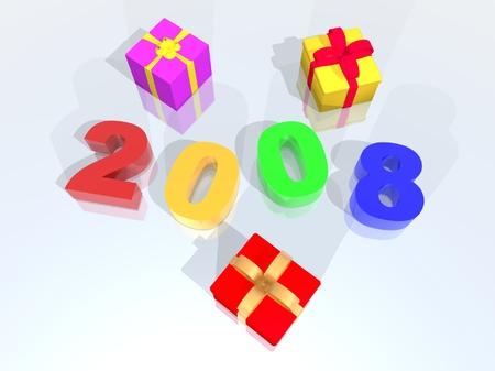 new year 2008 Stock Photo - 1692857