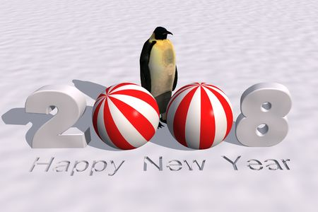 next day: a 3d rendering to celebrate the new year 2008