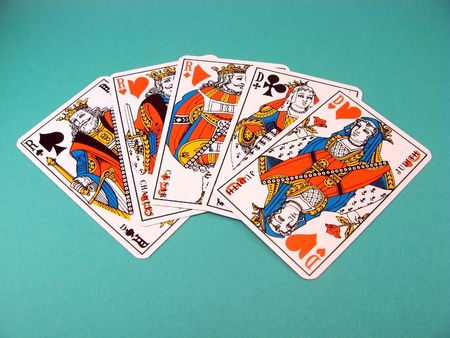 jack pot: poker hand ranking : three kings and two queens