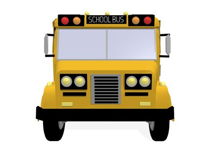 a 3d rendering of an american schoolbus Stock Photo - 1828508