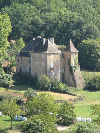 an image of a manor house in the Dordogne back-country in France photo