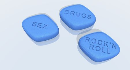 a 3d rendering of blue  pills